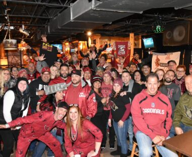 Birdgang gathered together for group photo